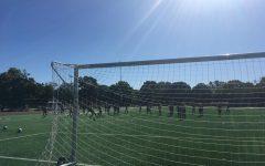 Girls Soccer Team practices at Schenley Oval.