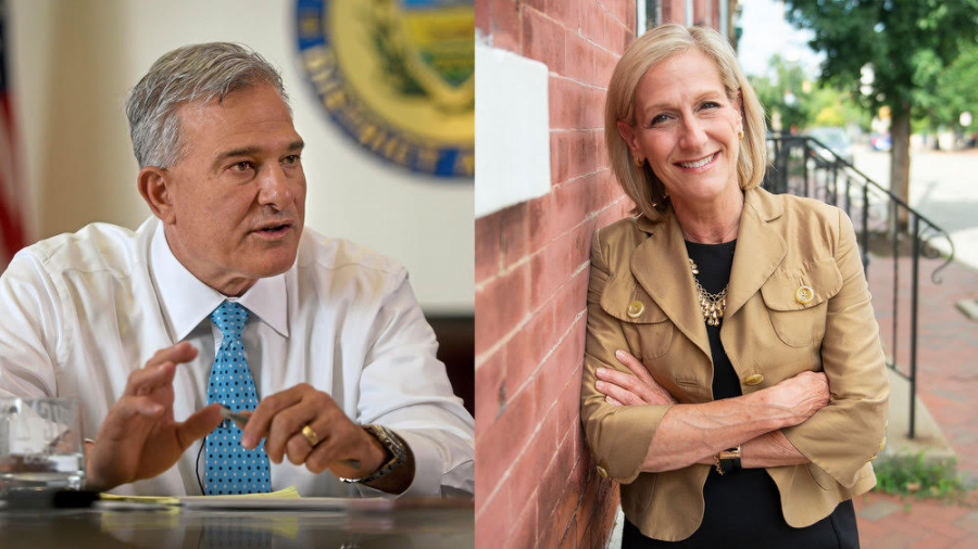 Allegheny County DA Candidates Stephen Zappala (left) and Lisa Middleman (right)
