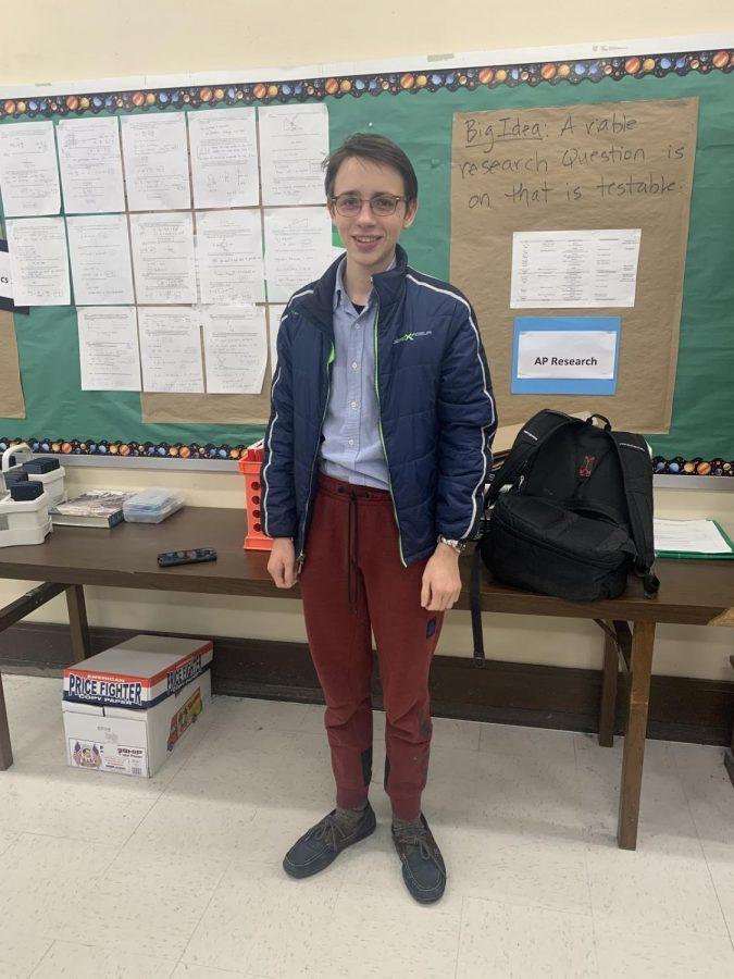 Michal Hajlasz, an Allderdice student who recently advanced in the Regeneron Science Talent Search