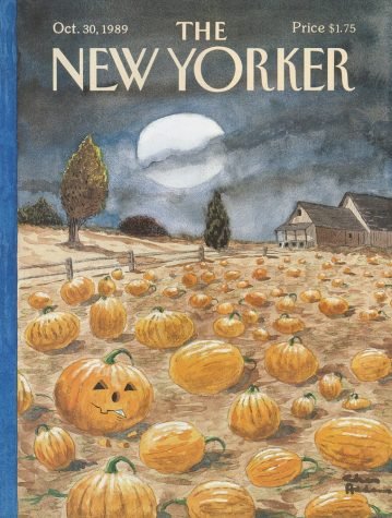 "Old Cover of ""New Yorker Magazine"" 1989"