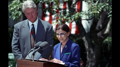 Taken after the announcement of Ruth Bader Ginsburg nomination to the Supreme Court by President Clinton in 1993.