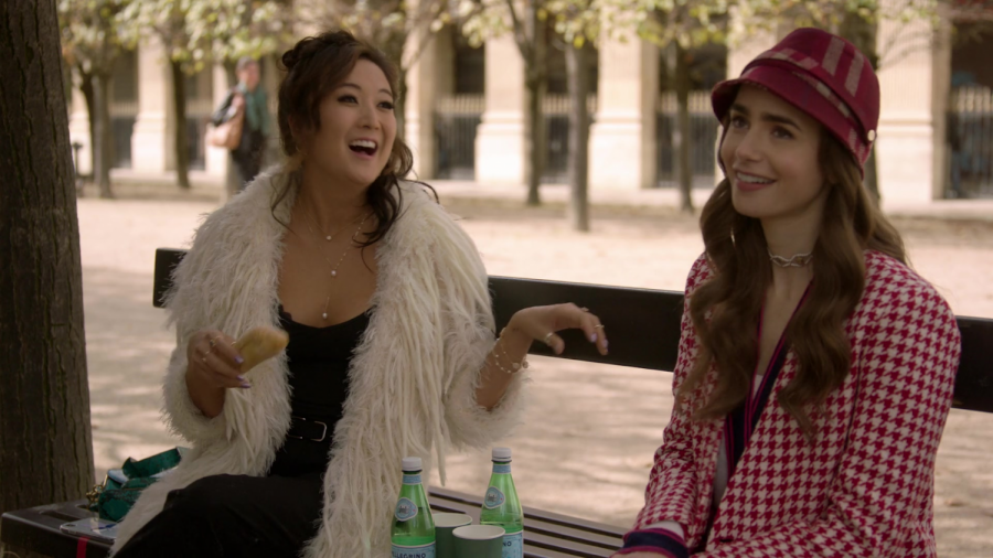 Mindy (Ashley Park) and Emily (Lily Collins) in Paris. Mindy was one of the redeeming characters of the show.