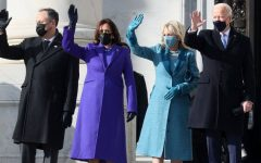 Second gentleman Douglas Emhoff, Vice President Harris, First Lady Dr. Jill Biden and President Biden on Inauguration Day.