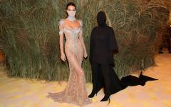 Kendall Jenner and Kim Kardashian at this years Met Gala.